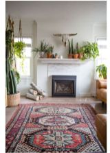 Beautiful Bohemian living style displaying artsy rug designs with exotic pattern Image 35