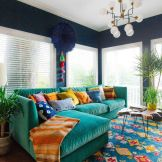 Beautiful Bohemian living style displaying artsy rug designs with exotic pattern Image 41