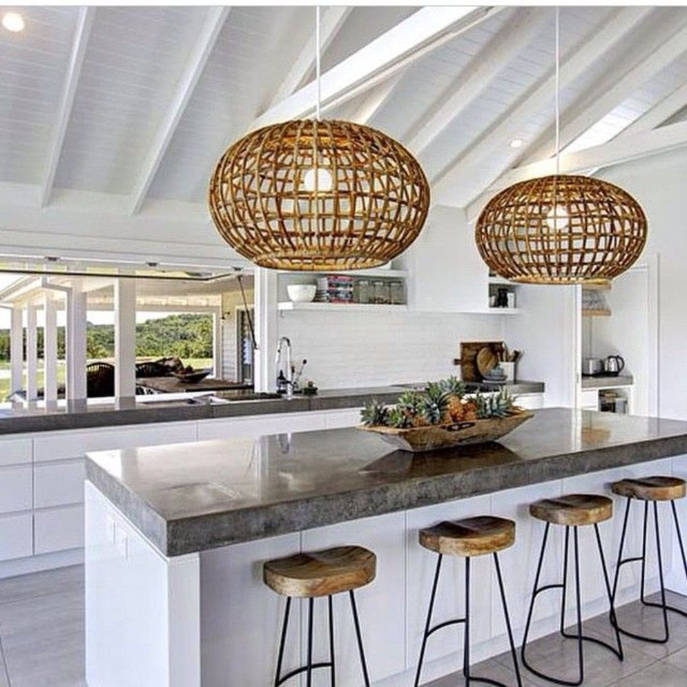 Classy kitchen styles in bold display maximizing concrete benchtop designs Image 1