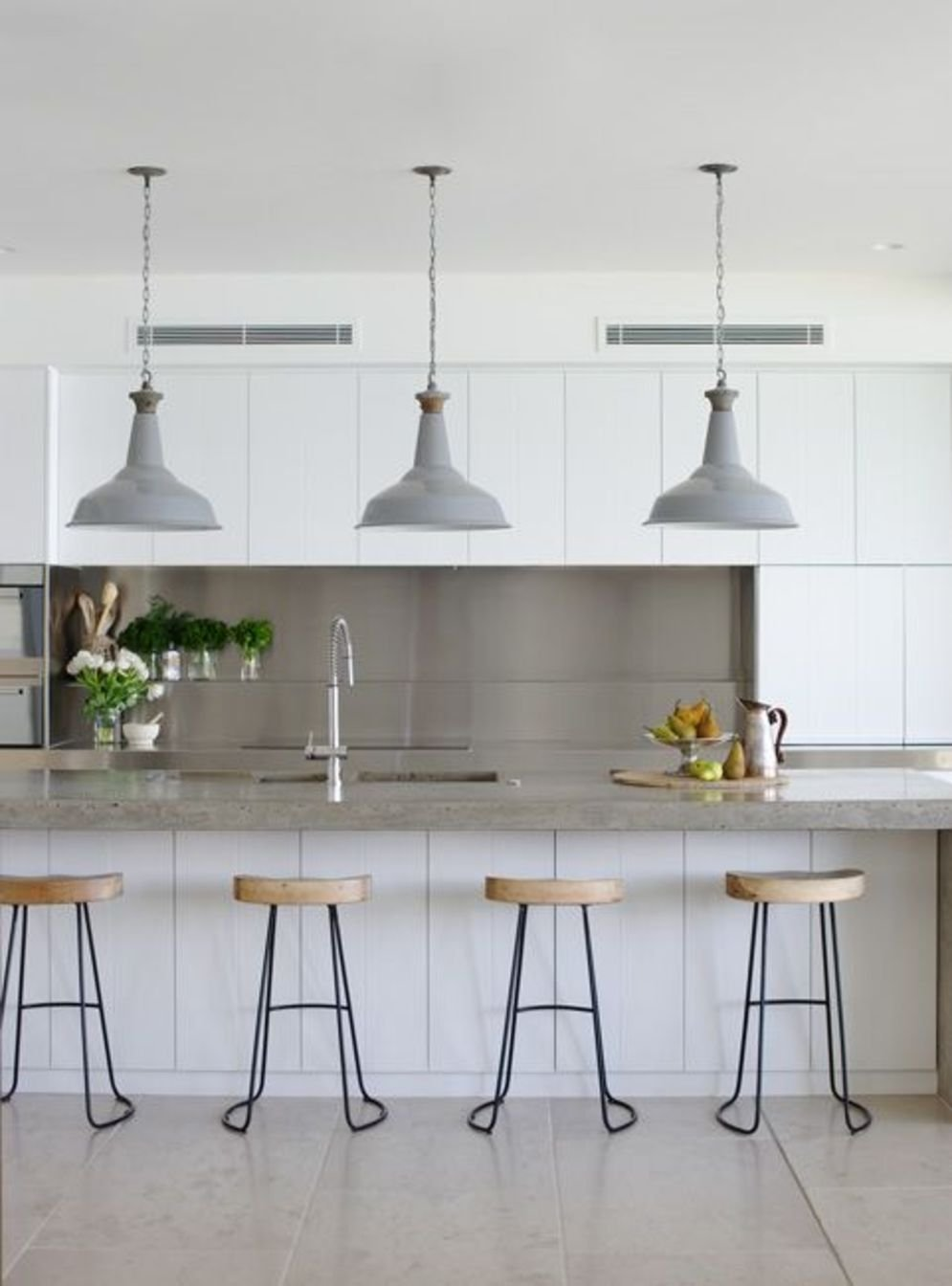 Classy kitchen styles in bold display maximizing concrete benchtop designs Image 14