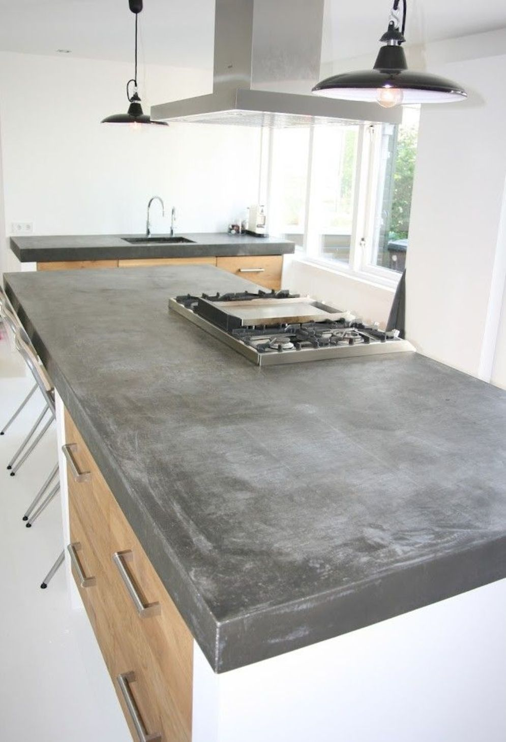 Classy kitchen styles in bold display maximizing concrete benchtop designs Image 17