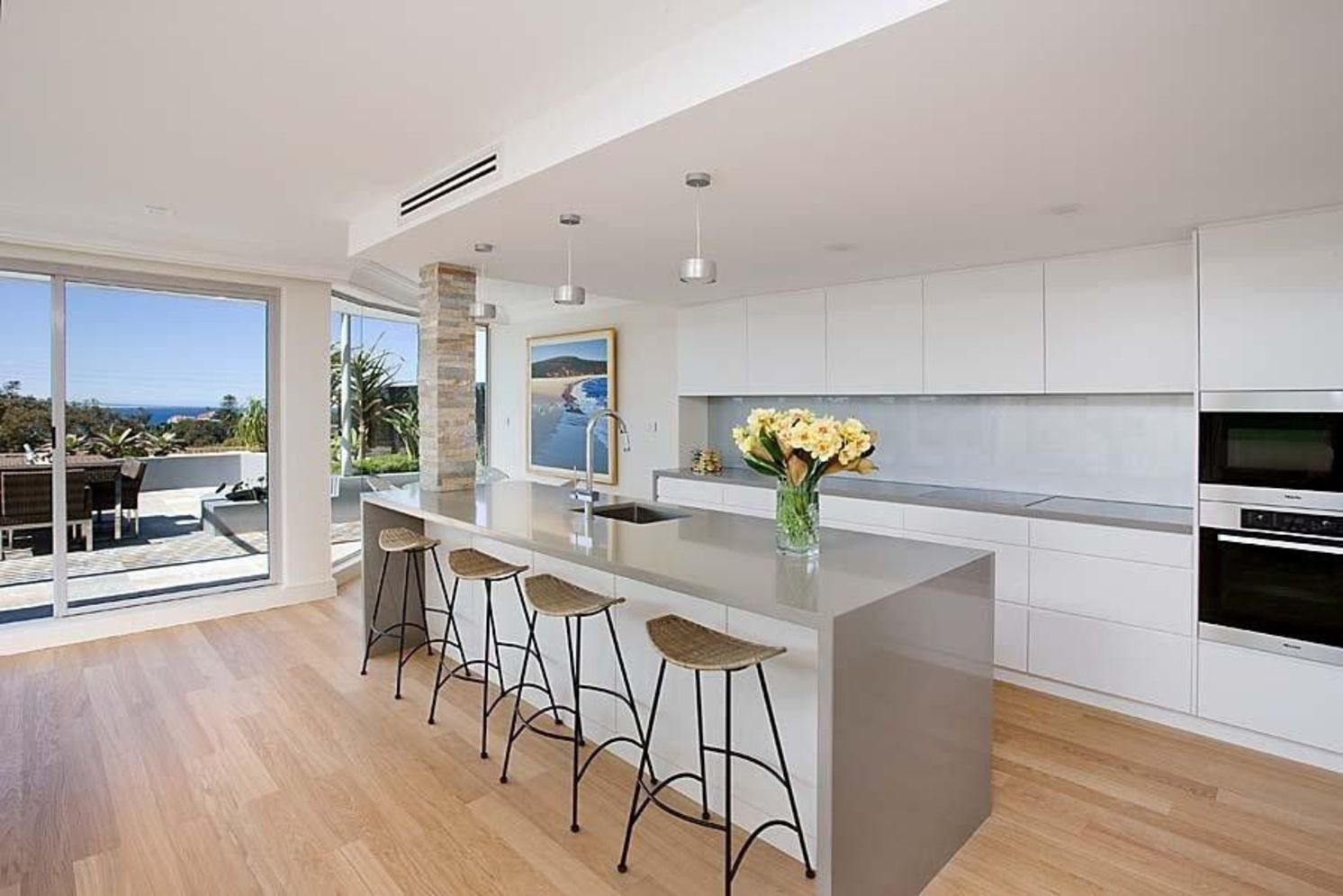 Classy kitchen styles in bold display maximizing concrete benchtop designs Image 4