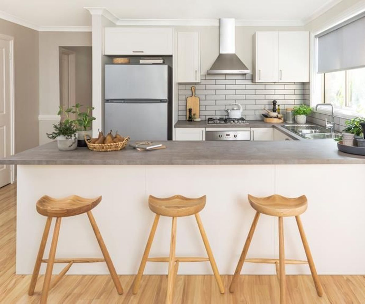 Classy kitchen styles in bold display maximizing concrete benchtop designs Image 9