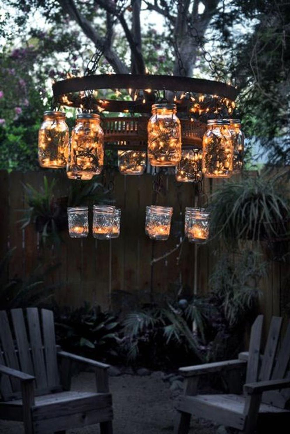 Lavish garden upgrade showing beautiful outdoor light schemes that liven up the landscape view Image 37