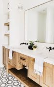Most savvy bathroom designs with elegant wood finish to give more natural feel Image 10
