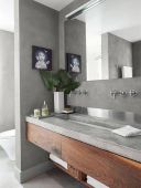 Most savvy bathroom designs with elegant wood finish to give more natural feel Image 17
