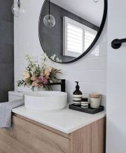 Most savvy bathroom designs with elegant wood finish to give more natural feel Image 19