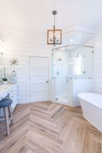 Most savvy bathroom designs with elegant wood finish to give more natural feel Image 20