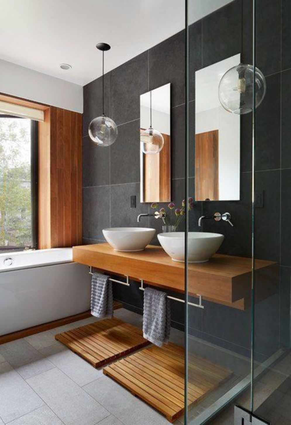 Timeless bathroom designs with wood accents enhancing more natural vibes Image 31