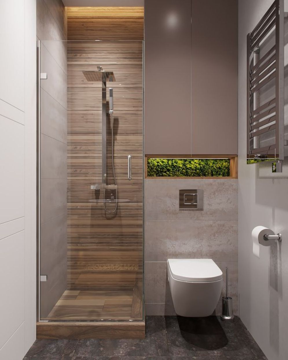 Timeless bathroom designs with wood accents enhancing more natural vibes Image 32