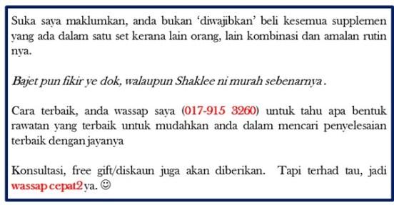 good to know shaklee ni murah