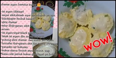 cheese telur kukus