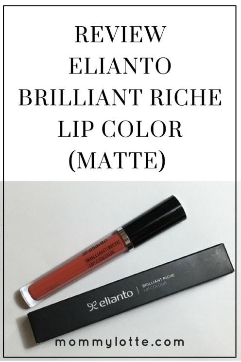 Review: Elianto Brilliant Riche Lip Color (Lip Matte), review, lip matte, swatch
