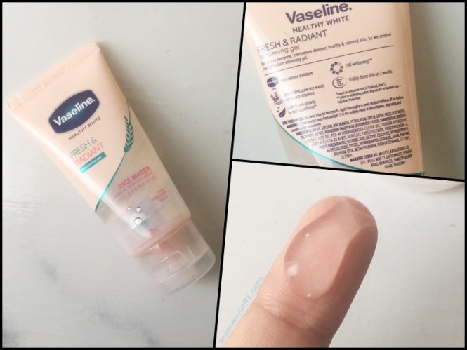 vaseline rice water review