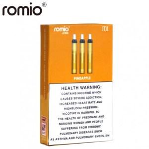 روميو سيجارة الاستخدام الواحد 3 حبات نكهة الاناناس