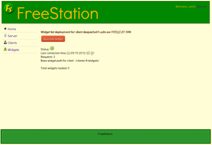 FreeStation Server - Associate widget to client