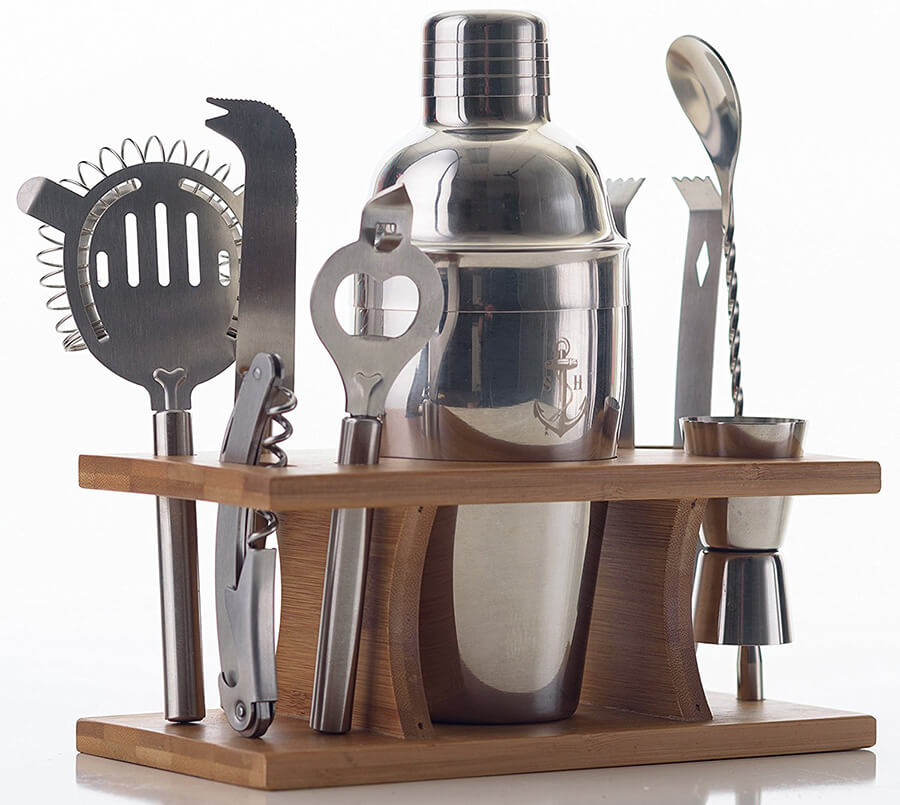 Mixology Bartender Kit: Piece Bar Tool Set with Rustic Wood Stand – Perfect Home Bartending Kit and Cocktail Shaker Set For an Awesome Drink Mixing Experience. Mixology Bartender Kit: Piece Bar Tool Set with Rustic Wood Stand – Perfect Home Bartending Kit and Cocktail Shaker Set For an Awesome Drink Mixing Experience.