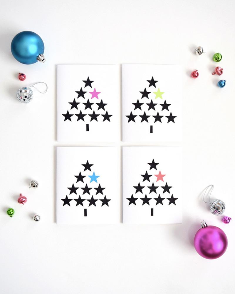 Des Cartes De Nol DIY Imprimer Shake My Blog
