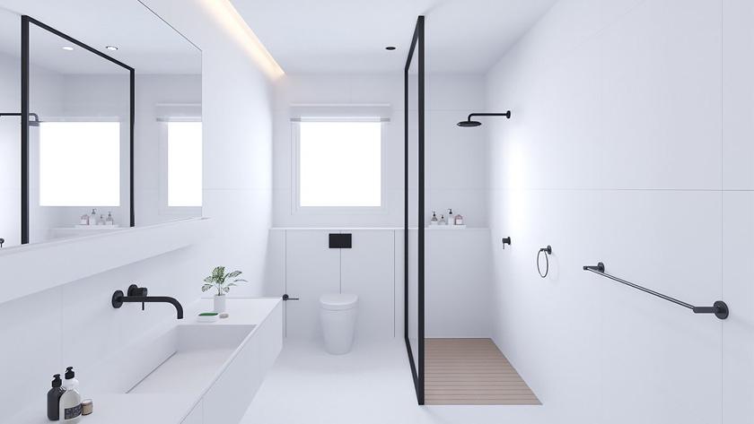 idee salle de bain moderne noir