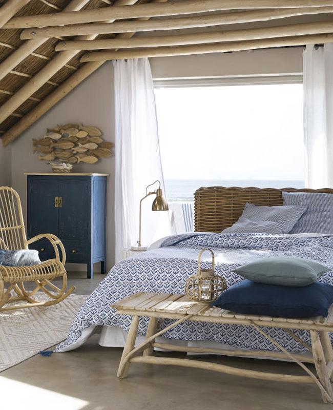 linge de lit pour une deco bord de mer