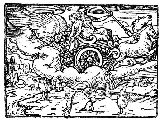 """Proserpina being abducted in """"Dis's wagon."""""""