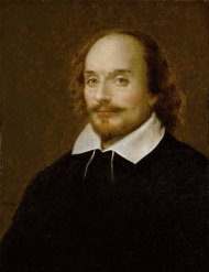 Page Portrait of Shakespeare