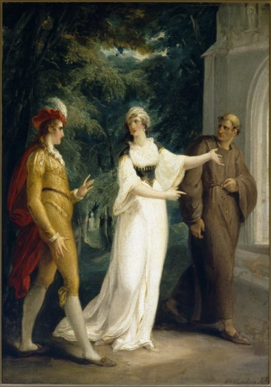 William Hamilton. Olivia's Proposal. Oil on canvas, ca. 1796