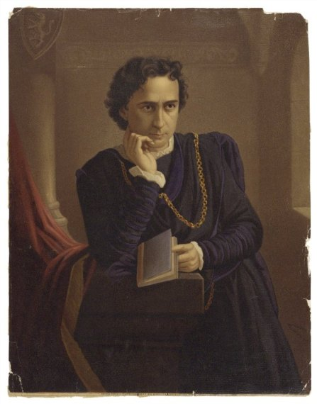 Edwin Booth as Hamlet. Folger Shakespeare Library.
