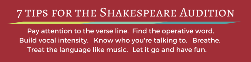 Shakespeare Audition 7 tips