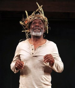 Joseph Marcell in the Shakespeare's Globe production of King Lear