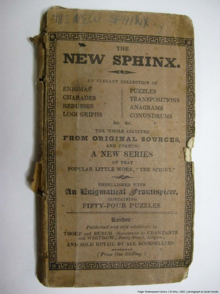 New Sphinx Front Cover