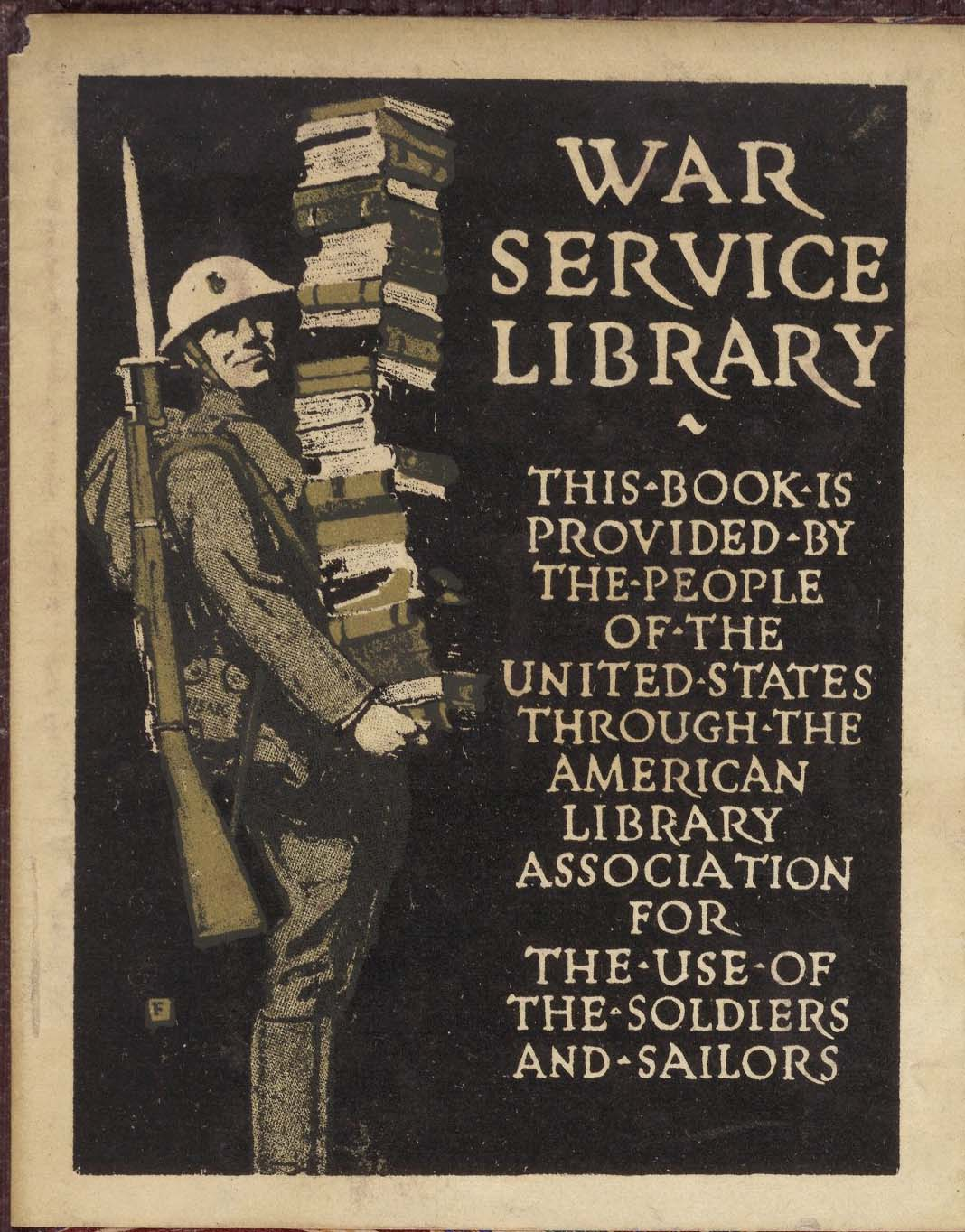 War Service Library bookplate