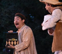 (L to R) Phil Wong as the Clown and Phil Lowery as the Old Shepherd in San Francisco Shakespeare Festival's Free Shakespeare in the Park production of The Winter's Tale. Photo: Jay Yamada