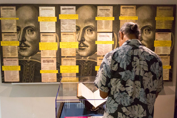 he First Folio tour in Hawaii (April 25 – May 25, 2016). Image courtesy of Kapi'olani Community College.