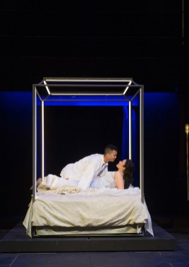 Romeo (William Thomas Hodgson) and Juliet (Emily Ota) bask in wedded bliss. Photo by Jenny Graham,