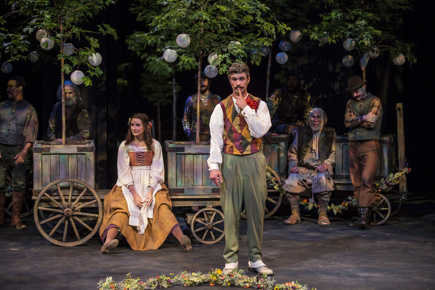 "Photo of Audrey and Touchstone in ""As You Like It'"""