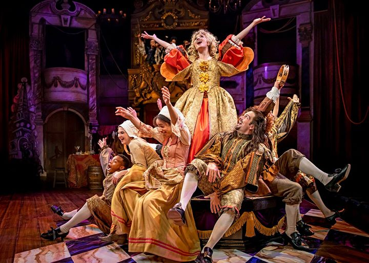 "A song and dance number from Chicago Shakespeare's North American premiere production of ""Nell Gwynn."""