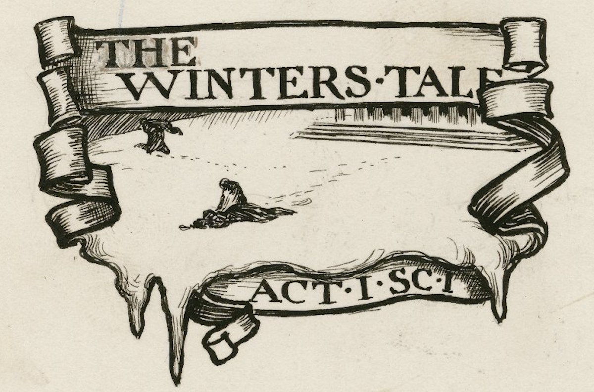 A Winter's Tale, A Set of Eight Original Drawings. Byam Shaw. Pen and ink. ca. 1900. Folger Shakespeare Library.