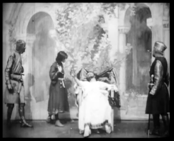 Herbert Beerbohm Tree as King John, 1899 (screenshot from YouTube)