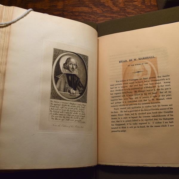 James Boaden, An Inquiry into the Authenticity of Various Pictures. 1824. Folger Shakespeare Library. Photo by Ben Lauer.