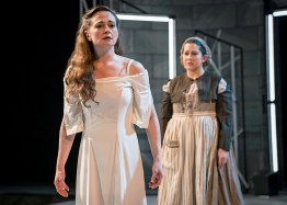 "Lady Macbeth (Tiffany Scott) in ""Short Shakespeare! Macbeth,"" Chicago Shakespeare Theater. Photo by Liz Lauren."