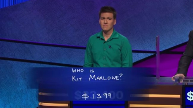 James Holzhauer thinks about the Final Jeopardy clue on the June 3 episode of Jeopardy