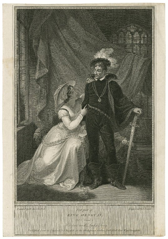 Lady Percy and Hotspur in a scene from Henry IV Part 1