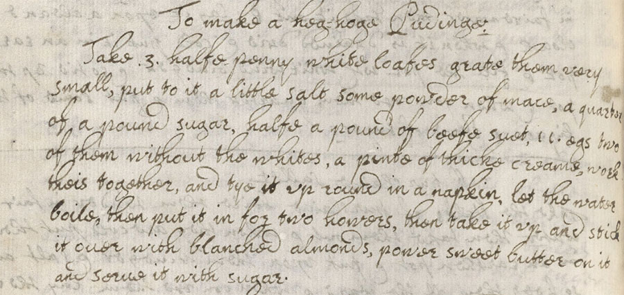 Recipe for hedgehog pudding