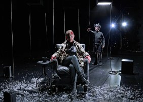 """Dan Waller as Banquo and Patrick Scott McDermott as Fleance """"I, Banquo"""" from Chicago Shakespeare Theater. Courtesy Chicago Shakespeare Theater."""