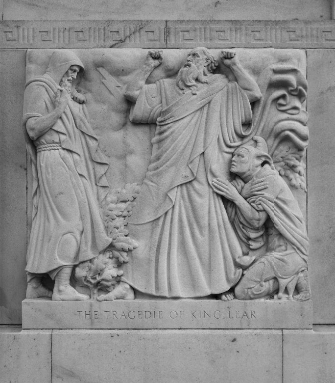 Bas-relief scene from King Lear