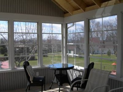sunroom from the inside