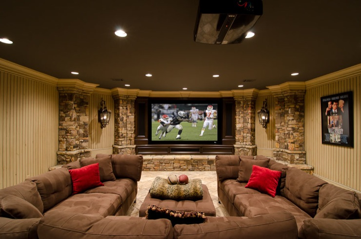 basement remodel home theater man cave