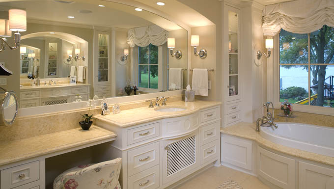 Bathroom Remodel With Soaker Tub And Makeup Area