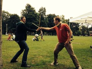 Dowel Duel at Withrow Park Farmers' Market